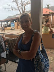 Brenda Fioretti waiting for lunch to be served at Divi Little Bay in Sint Maarten.
