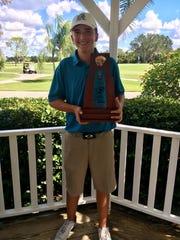 Gulf Coast sophomore golfer Joey Burke won medalist