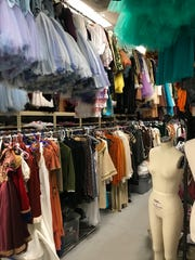 The costume room at Rochester City Ballet on University