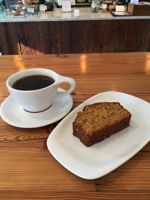 You won't find artificial pumpkin syrup at The Coffee Box (coffee deserves better that that).  You will find delicious homemade vegan pumpkin bread made from real  pumpkins.