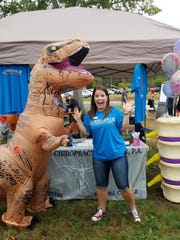 T-Rex even stopped by to check out the services offered