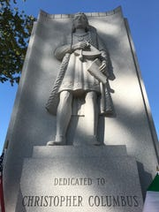 A statue of Christopher Columbus has stood in Garfield