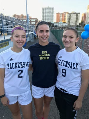 Hackensack's girls soccer team captains Gena Kaminski, Julianna Kowal and Maria Monsalve have succeeded on and off the field.
