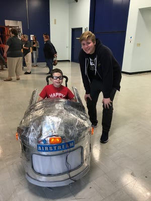 Nate Peters and his father designed and built a custom Airstream Camper costume for a boy who uses a wheelchair.