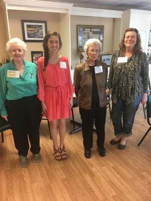 Photograph: left to right Cynthia Campbell, Allison Bolt, Margaret coal, and chapter his story and Cheryl Tuttle of Belton.