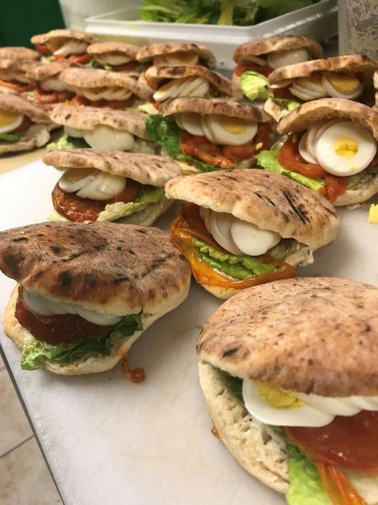 Breakfast sandwich at Marcel