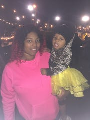 Jessica Gammons brought her daughter Jamaria to the