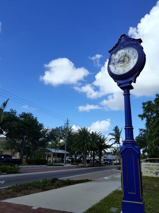 Downtown Bonita Springs clocktower