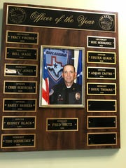 Sgt. Fred Dietz, who died Monday of apparent suicide, was named officer of the year for the San Angelo Police Department in 2016.