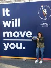 Jenna Intersimone at the NYC Marathon Expo.