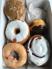 The doughnuts at Hegedorn's are baked in the store every day.