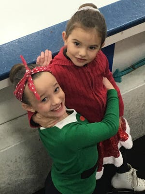 Neva and Eleanor Baseley of Fond du Lac Figure Skating Club during Holiday Exhibition 2016.