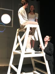 """Jack Barshaw, Sydney Timner and Leslie Miller during a rehearsal for """"Our Town."""""""