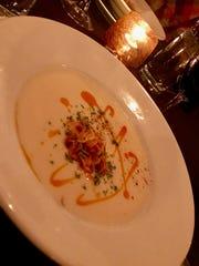 Cauliflower soup at Aposto.