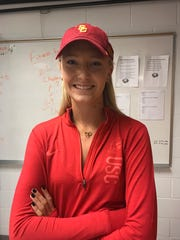 Alyssa Mayo signed to play tennis with the University of Southern California.