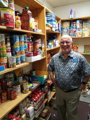 Food pantry at Elder Care Services.