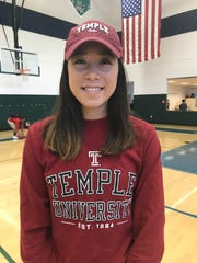 Volleyball player Gem Grimshaw signed with Temple University.