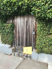 An Amazon package left on at a doorway in San Francisco.