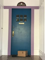 A package left on at a doorway in San Francisco.
