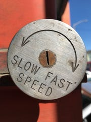 A speed gauge at a San Francisco building.