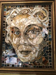 Mississippi artist Teresa Haygood uses material such as stained glass to weave together intricate mosaic art pieces like this portrait of Jackson native and Pulitzer Prize winner Eudora Welty.