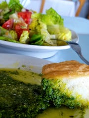 A dish of Edgewater's basil pesto to accompany your
