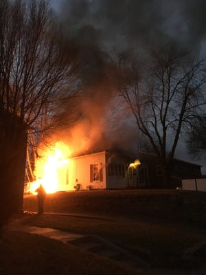 House fire near Covell Avenue and 6th Street.