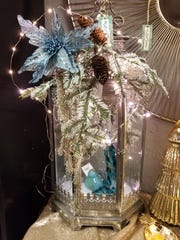 """Electric or battery operated """"fairy"""" lights can be added for extra sparkle to your tabletop decoration."""