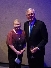 Rotary International president Ian Riseley meets with