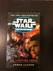 """A photo of """"The Unifying Force,"""" the final book of the """"New Jedi Order"""" series."""