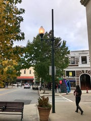 This streetlight in front of the Flat Iron Building in downtown Asheville has been burning 24/7. The city said it was malfunctioning and has been fixed.