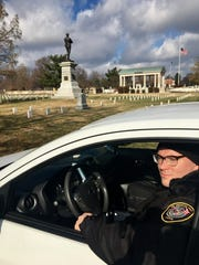 Mark Reppy, who provides security for the Confederate