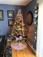 One of Nicole Citro's two artificial trees she has