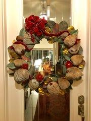 Kristin Paulson of Naples created a Christmas wreath
