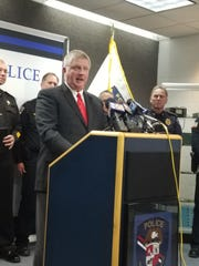 """Wauwatosa Police Department Chief Barry Weber said.""""All of us here today recognize violent crime is a scourge in our communities."""" A press conference was held on Dec. 19."""