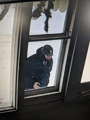 This person was captured on a home security camera taking a delivered package from a porch on Bryant Street on Saturday. Anyone with information about him is asked to call police.