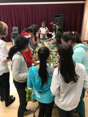 "Middle school girls participate in ""Lady Lead,"" a program"
