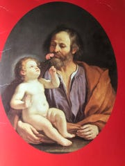 Sunday is the last Sunday of Advent. Shown here is  a rare portrait of Joseph with the Christ Child by Giovanni Guercino, 1591-1666.