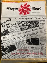 A collage of Fiesta Bowl headlines.