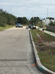 The Collier County Sheriff's Office blocked off a Goodwill store at a strip mall in North Naples after a man said there was a bomb in a nearby vehicle Tuesday, Jan. 2, 2018.