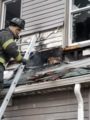 A house fire on Upper Mountain Avenue in Montclair