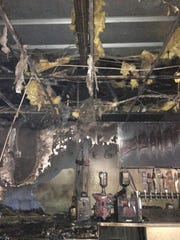 Damage to Barracuda's in Springettsbury Township caused by a fire on Feb. 18, 2017.