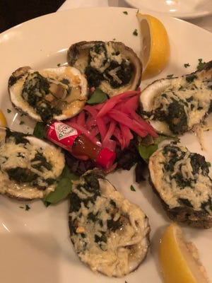 The oysters Rockefeller dish at Morrie's.