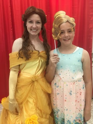 Belle and Rylee Dwyer at the 2016 princess-themed Mother-Daughter Tea Party.