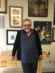 Author and screenwriter Darryl Ponicsan stands in his studio in Cathedral City.