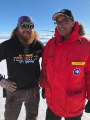Victor McCrary, right, with ground crew outside McMurdo Station on a recent trip to Antarctica in November 2017. McCrary is a member of the National Science Board and was named vice chancellor for research at the University of Tennessee on Jan. 8, 2018.