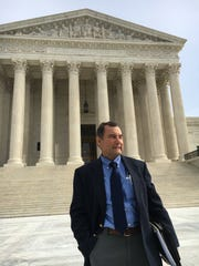 Apalachicola Riverkeeper Dan Tonsmeire outside the Supreme Court in January following 'water wars' arguments before the nation's highest court.