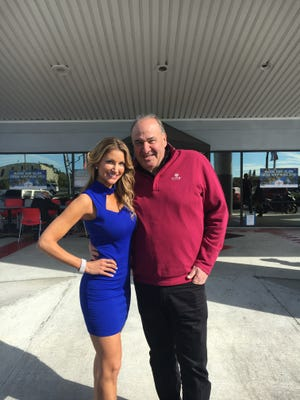 McKinzie Roth, who lives in Portland, Oregon, will be commuting several times a year to Florida and her part-time job as TV commercial sidekick of car dealer Billy Fuccillo.