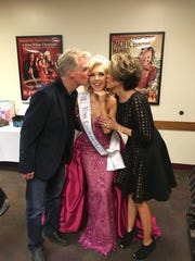 Tara Broderick of Visalia is congratulated by her parents after winning the Miss California title in the International Junior Miss Scholarship pageant.