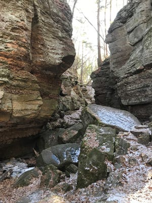 The rocks of Parfrey's Glen tell stories that are millions of years old.